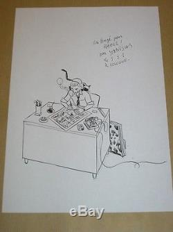 Rare Drawing Original / Herge Signe Stanislas / Tres Bon Etat