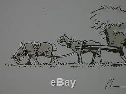 Rare Original Drawing / Bruno Le Floc'h / Britons Loader Hay / Tr B State