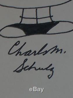Rare Original Drawing Peanuts / Lucy Van Pelt Sign Charles M. Schulz / Tb State