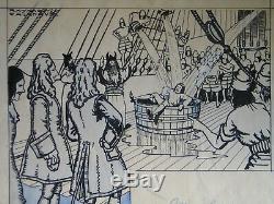 Raymond Cazanave 10 Original Boards Bd Superb Set 1941 Pierrot Drawing