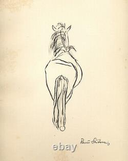 Renée Sintenis Board Signed Authentic 1888-1965 Dlp 1947 Rar Drawing Bestiary