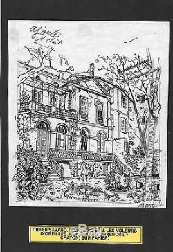 Savard. Preparatory Drawing For Les Eleurs D'oreilles. Dick Hérisson