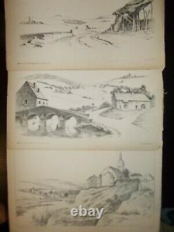 School Of Saint-cyr, Collection Of Original Boards And Drawings, Environ De Tours