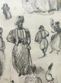 Tableau Planche Original Drawings By Jean Gigoux (1806-1894) Notebooks