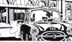 Tardi 1977 Beautiful Original Plate N ° 8 From Fatale (cuff)