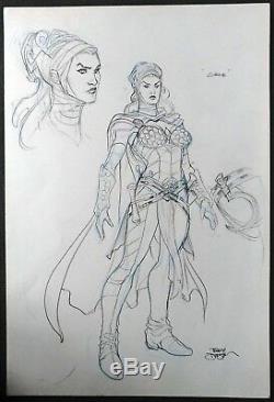 Terry Dodson Original Drawing Circe