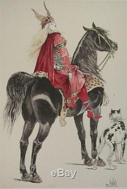 The Board Chic Horse The Vallet 1891 Queen Brunhilda D'austrasie 33 X 25