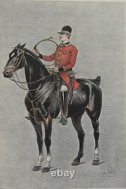 The Chic A Cheval L Vallet 1891 A Piqueux Planche 33 X 25