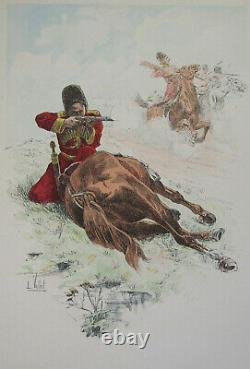The Chic A Cheval L Vallet 1891 Circassians Board Of The Czar 33 X 25