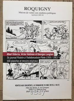 Uderzo / Charlier Original Board Belloy P174 D 5243 CM Signed! (asterix)
