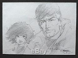 Vance Original Pencil Drawing XIII & Jones