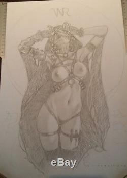 Venera Original Drawing By Adriano De Vincentiis (signed)