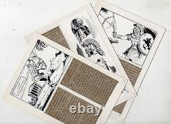 Vicente Farres War On Rv Lot From 3 Original Drawings - 3 Montage Boards
