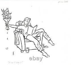 Walter Minus Dessin Original 21 X 30 Original Board Drawing Pin-up Pop Art