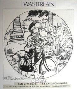 Wasterlain Original Board Original Drawing Comics Magazine Spirou