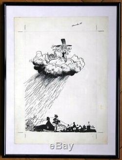 Will Franquin Delporte Isabelle Original Drawing Newspaper Cover Spirou 1977