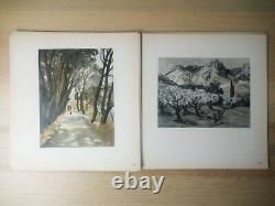Yves Brayer / Colombier Series 20 Boards + Drawing Original Dédicacé Rare