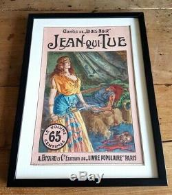 1910 Jan Starace Magnifique Gouache Originale Couverture Louis Noir Jean-qui-tue