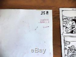 2 Planches originals série Bessy et Andy Eric de Rop et W. Vandersteen