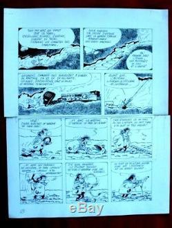 2 planches originales de JANNIN pour le journal Spirou albumdessin originalbd