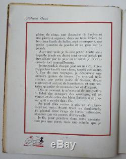 3 dessins originaux de Félix LORIOUX pour ROBINSON CRUSOÉ 1930