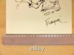 A. FRANQUIN Splendide dessin original GASTON (Canson 22 x 30 cm) BE