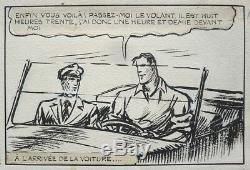 ALAIN LA FOUDRE Planche originale de Carlo COSSIO vers 1945 DICK FULMINE
