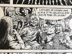 AUCLAIR Rare planche originale 43 BRAN RUZ Casterman A suivre 1981