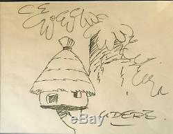 Albert UDERZO Dessin original signé
