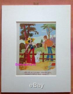 André Vigno Pin up Peinture Planche Originale (Art Dessin Jours de France Kiraz)
