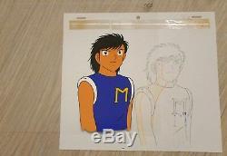 Anime cel OLIVE ET TOM 1983 cellulo Japan Captain Tsubasa Holly e Benji