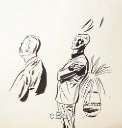 BILLY HATTAWAY Planche originale de Antonio PARRAS pour PILOTE en 1965 yéyé