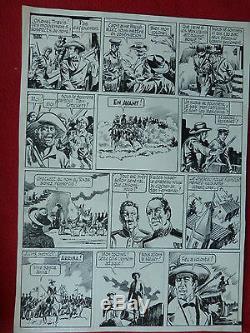 Bd Planche Dessin Originale Encre De Chine Davy Crockett Cheval Aventure