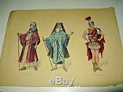 Belle Planche Costumes Aquarelles Originales Style Job 1890theatre Opera Antique