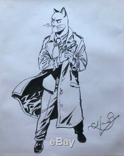 Blacksad Grande illustration originale John Blacksad (2008)