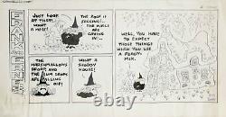 Bob Thaves, Frank Et Ernest, Encre Dessin Sur Illustration Planche