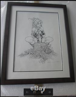 CRISSE Atalante dessin original signé