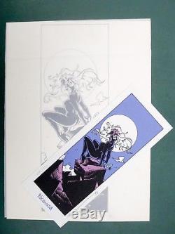 CRISSE illustration originale et ex-libris L'Epée de cristal 1994