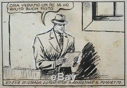 Carlo COSSIO Planche originale de ALAIN LA FOUDRE vers 1945 DICK FULMINE