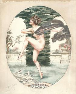 Chéri Hérouard Dessin aquarelle Original watercolour La Vie Parisienne