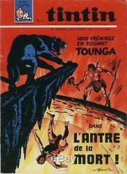 Couverture originale Journal Tintin 1966 Tounga