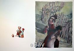 DAUTREMER Rebecca Grande Illustration publiée Nasredine et son ane