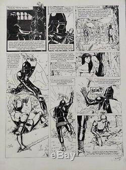DELABY- Arthur au royaume de l'impossible planche originale