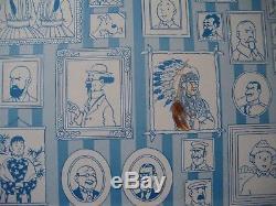 DESSIN DEDICACE DE TINTIN ET MILOU PAR HERGE (Sur album) 1979
