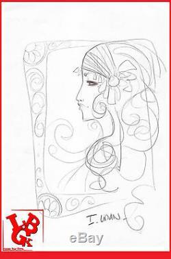 DESSIN ORIGINAL Ingrid LIMAN planche originale crayonné signé Hollywood