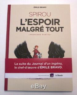 Dédicace BD Emile Bravo Spirou ou l'espoir malgré tout + TIMBRE NATION 300 ex