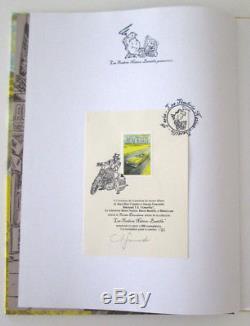 Dédicace Guarnido + Canalès Blacksad T. 5 E. O + timbre nation N°/S 300 ex