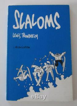 Dédicace Lewis Trondheim (Lapinot) Slaloms EO 1993 + ex-libris N°/S 100 ex