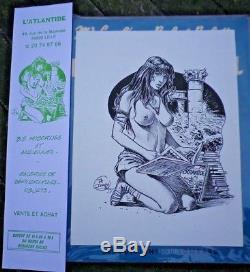 Delaby encre de chine érotique publicitaire atlantide bd 1992