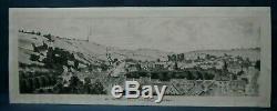 Dessin 1912 Les Andelis vue du Faubourg des Planches Vallèe de la Seine Eure